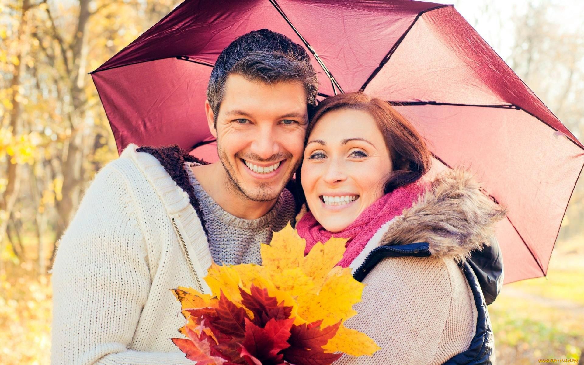 Мужчина и женщина осенью картинки